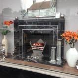 Bespoke black marble fireplace