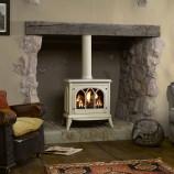 Gazco-Ashdon-ivory gas log stove