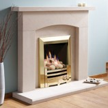 Gazco Arts-brass gas fire