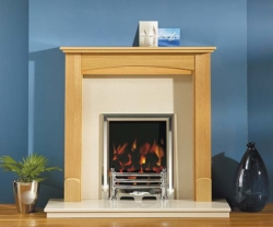 Focus Fireplaces Abi oak fire surround