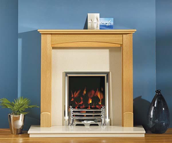 Focus Fireplaces Abi oak fire surround