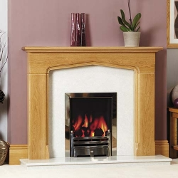 Focus Fireplaces Appleton oak fire surround