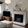 Bespoke Barnfield limestone fireplace