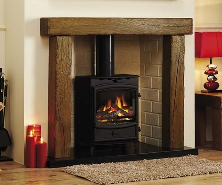 Focus Fireplaces Beamish Oak fire surround