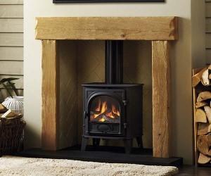 Focus Fireplaces Benson oak fire surround