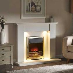 Capital-Avelar-Fireplace 48-Barley White marble