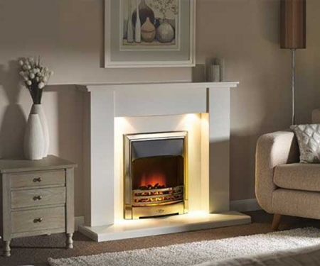 Capital-Avelar-Fireplace 48-Barley White marble