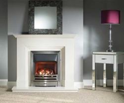 Capital-Dalton-44-Fireplace Barley White marble