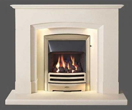 Capital-Deighton-48-Fireplace Perla marble