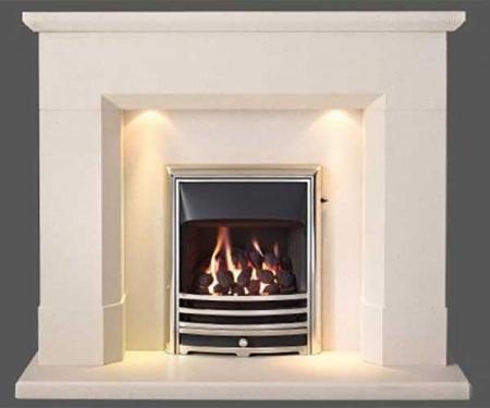 Capital-Parrona-54-Fireplace Satin Beige marble