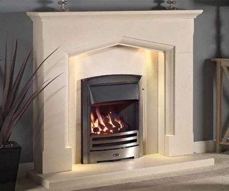 Capital-Swinford-54-Fireplace Satin Beige Marble