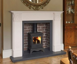Sovereign Carisbrook Agean limestone fire surround