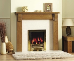 Focus Fireplaces Coburn Oak fire surround