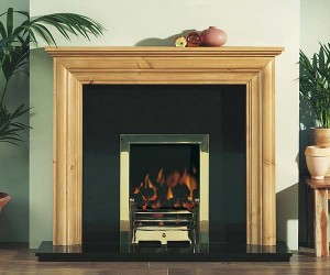 Focus Fireplaces Emily pine fire surround