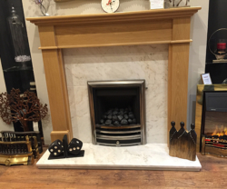 Estremoz natural marble fireplace slips & hearth