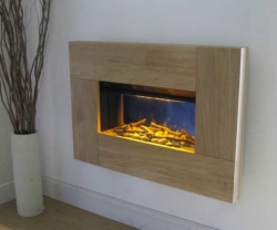 Ebonic-Scala-Oak electric fire