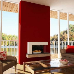 Evonic-qube electric fire & fireplace
