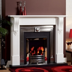 Focus-Annabel white timber fire surround