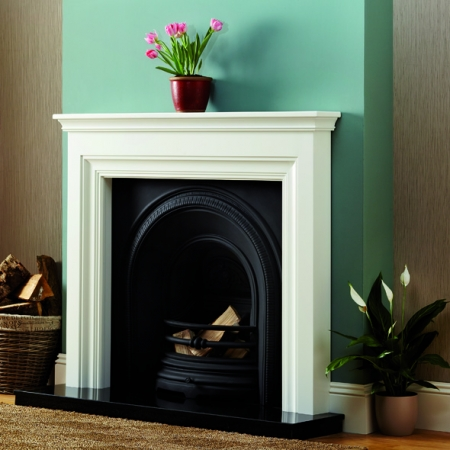 Focus Emmerdale white timber fire surround