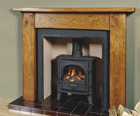 Focus Fireplaces Gainsborough oak fire surround
