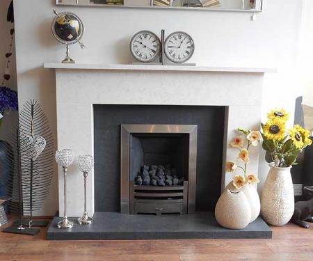 Harting limestone bespoke fireplace