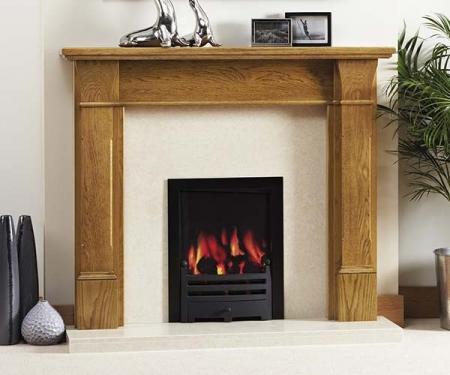 Focus Fireplaces Jennifer oak fire surround