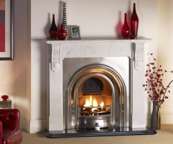 KF121 Warm Home-Nuffield-Carrara marble fire surround