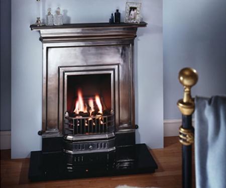 KF124 Warm Home Oakley cast iron combination fireplace