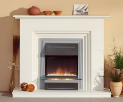 Focus Fireplaces-Harrow fireplace suite