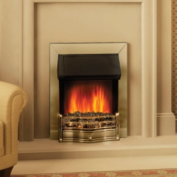Dimplex-Danesbury_Antique brass electric fire