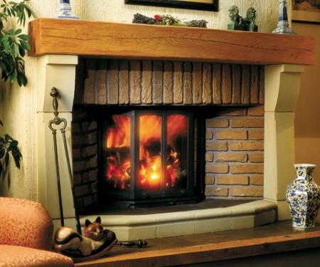 Dovre 2300CB-inset log fire