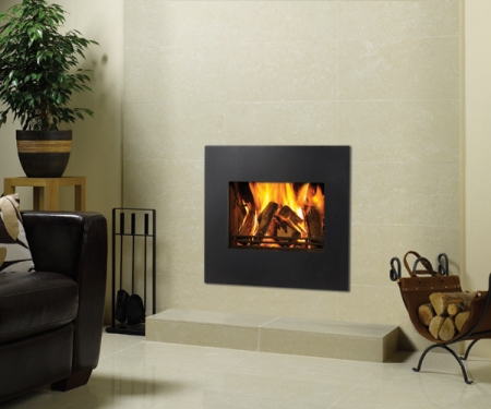 Stovax riva-22open-steel log fire