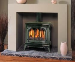 Gazco Ashdon-green gas stove