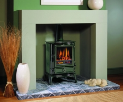 Stovax-brunel2_laurelgreen multi fuel stove