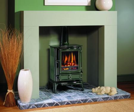 Stovax-brunel2_laurelgreen multi fuel stove