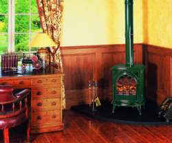 Stovax-Huntingdon-28 laurel green multi fuel stove