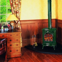 Stovax-Huntingdon-28 laurel green multi fuel stove