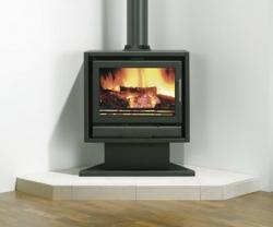 Stovax Riva-F66-Pedestal log stove