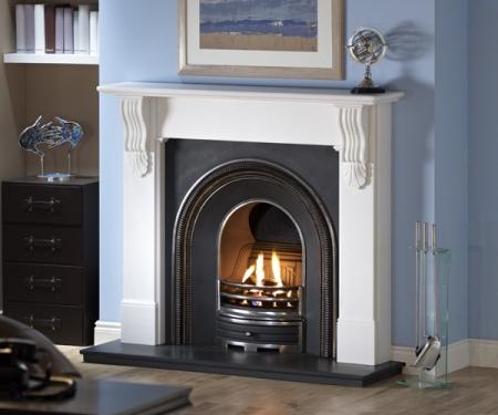 Capital Sandringham-Liberty White marble fire surround