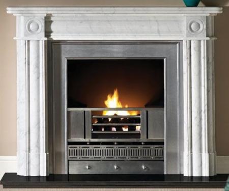 Capital-Regent-Carrara marble fire surround