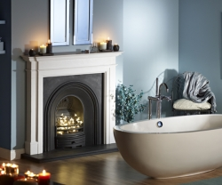 Capital-Kensington-Liberty white marble fire surround
