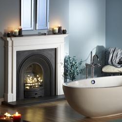 Capital-Kensington-Liberty white marble fire surround