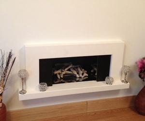 KF874 Portia antalya limestone fireplace