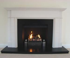 KF876 Bespoke limestone fireplace