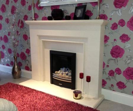 KF878 Fonthill limestone fireplace