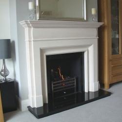 KF880 Bespoke Cushion Limestone Fireplace