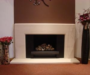 KF883 Bespoke Adelaide limestone fireplace