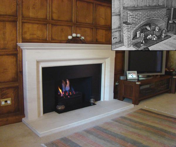 KF890 Bespoke Barnfield fireplace