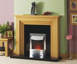 Focus Fireplaces Melbourne Oak fire surround