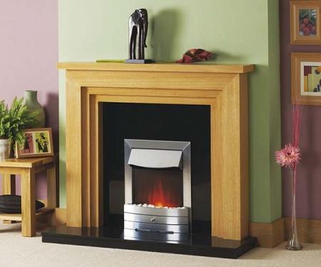 Focus Fireplaces Melbourne Oak fire surround